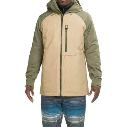 Burton [ak] Helitack Gore-Tex® Snowboard Jacket - Waterproof, Insulated (For Men) in Putty/Keef - Closeouts